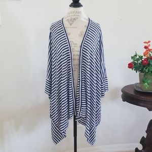 Liz Claiborne Striped Open Front Cardigan